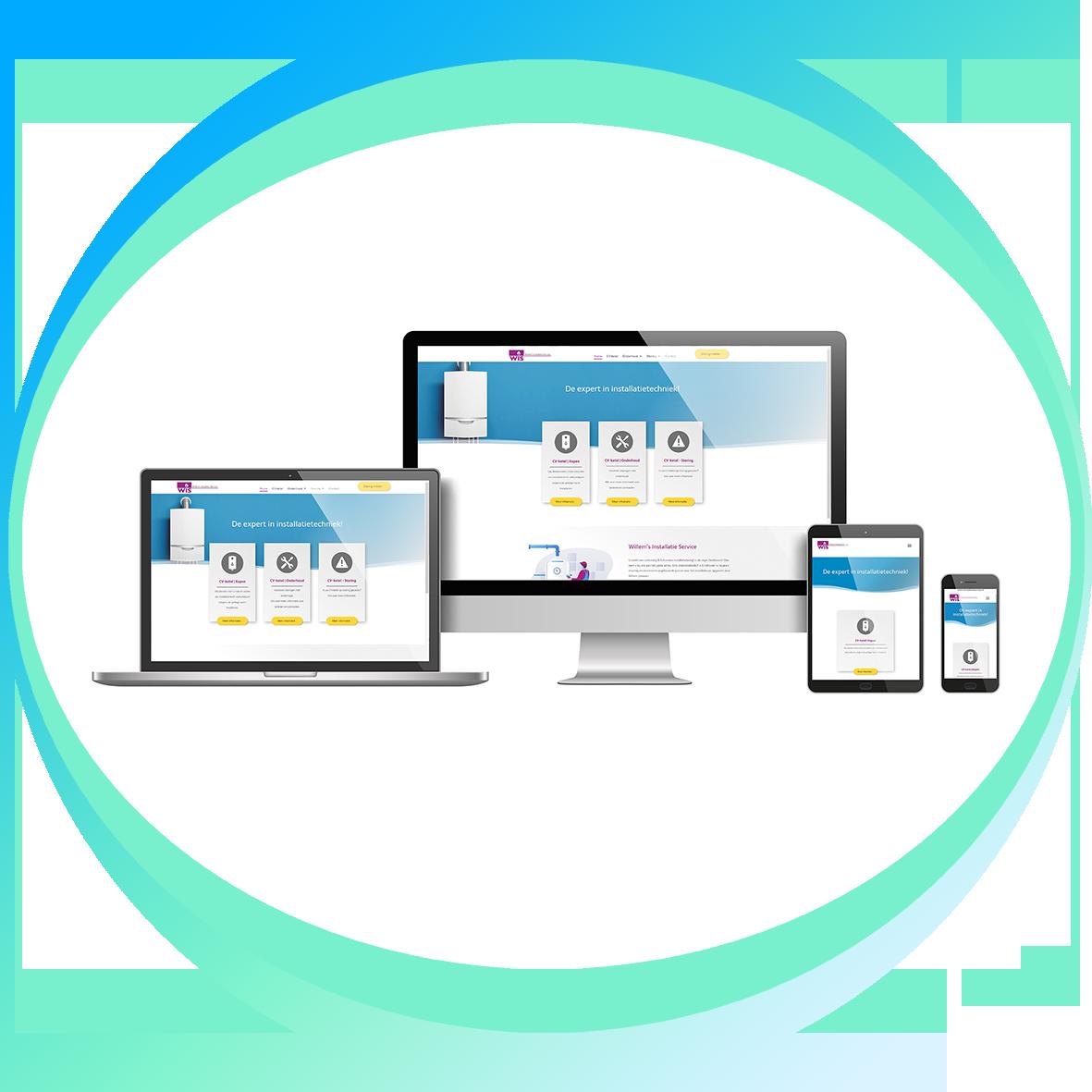 voorbeeld webdesign_Willems Installatie Service
