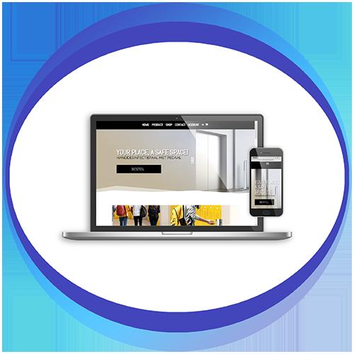 afbeelding webdesign_handdesinfectiepaal
